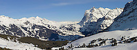 The Wetterhorn mountain from Kleiner Scheidegg - near Grindelwald - Swiss Alps - Switzerland