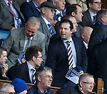 Craig Mather takes his seat in the directors box with Brian Stockbridge