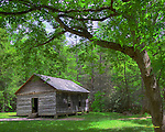 The Little Greenbrier Schoolhouse in the Great Smoky Mountains National Park.