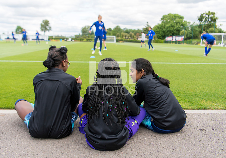 London, ENG - June 5, 2019:  The USWNT trains in preparation for the FIFA Women's World Cup at Hotspur Way Training Ground.