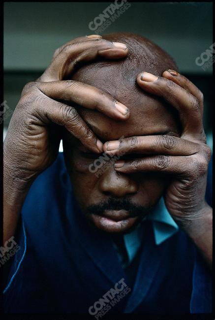 Unemployed man, Johannesburg, South Africa, 1975.