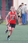 Santa Barbara, CA 02/18/12 - Kelly Arnhart (Georgia #19) in action during the Georgia-Michigan matchup at the 2012 Santa Barbara Shootout.  Georgia defeated Michigan 12-10.