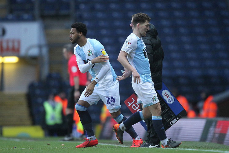Blackburn Rovers Joe Nuttall replaces Blackburn Rovers Richard Smallwood <br /> <br /> Photographer Mick Walker/CameraSport<br /> <br /> The EFL Sky Bet Championship - Blackburn Rovers v Bristol City - Saturday 9th February 2019 - Ewood Park - Blackburn<br /> <br /> World Copyright &copy; 2019 CameraSport. All rights reserved. 43 Linden Ave. Countesthorpe. Leicester. England. LE8 5PG - Tel: +44 (0) 116 277 4147 - admin@camerasport.com - www.camerasport.com