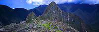 Panoramic of Machu Picchu ruins, Peru