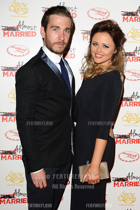 """Philip McGinley and Emily Atack arives for the """"Almost Married"""" Gala Screening at the Mayfair Hotel, London. 26/03/2014 Picture by: Steve Vas / Featureflash"""