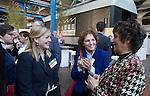 AMERSFOORT - Jantine Kip, Clementine de Koe met Vera van den Berg. Nationaal Golf Congres & Beurs (Het Juiste Spoor) van de NVG.     © Koen Suyk.