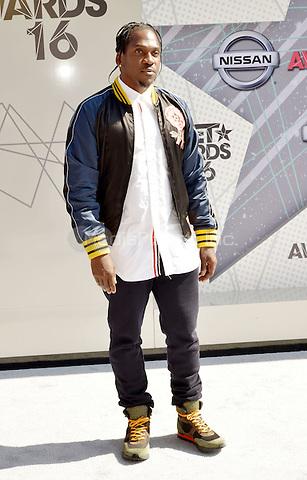 LOS ANGELES, CA - JUNE 26: Pusha T at the 2016 BET Awards at the Microsoft Theater on June 26, 2016 in Los Angeles, California. Credit: Koi Sojer/MediaPunch