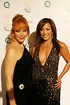 "Country Singer Reba McEntire poses with Dancing With The Stars' judge Carrie Ann Inaba at the 15th Annual QVC presents ""FFANY Shoes on Sale"" which benefits Breast Cancer Research on October 15, 2008 at the Waldorf Astoria, New York City, New York. (Photo by Sue Coflin/Max Photos)"