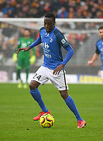 20181124 - LENS , FRANCE : Grenoble's Ibrehima Coulibaly pictured during the soccer match between Racing Club de LENS and Grenoble Foot 38, on the 15th  matchday in the French Dominos pizza Ligue 2 at the Stade Bollaert Delelis stadium , Lens . Saturday 24 Novembre 2018 . PHOTO DIRK VUYLSTEKE | SPORTPIX.BE