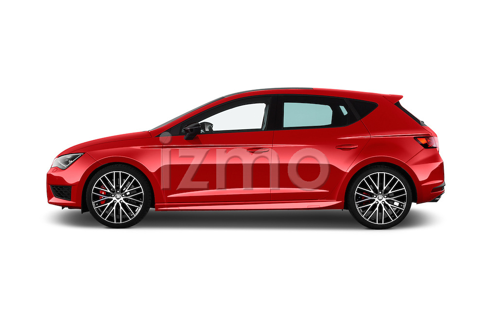 Car Driver side profile view of a 2016 Seat Leon CUPRA 280 5 Door Hatchback Side View