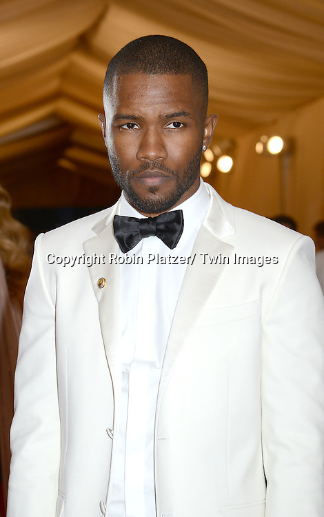 Frank Ocean attends the Costume Institute Benefit on May 5, 2014 at the Metropolitan Museum of Art in New York City, NY, USA. The gala celebrated the opening of Charles James: Beyond Fashion and the new Anna Wintour Costume Center.