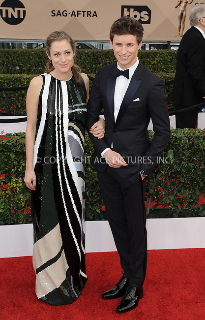 WWW.ACEPIXS.COM<br /> <br /> January 30 2016, LA<br /> <br /> Eddie Redmayne and Hannah Bagshawe arriving at the 22nd Annual Screen Actors Guild Awards at the Shrine Auditorium on January 30, 2016 in Los Angeles, California<br /> <br /> By Line: Peter West/ACE Pictures<br /> <br /> <br /> ACE Pictures, Inc.<br /> tel: 646 769 0430<br /> Email: info@acepixs.com<br /> www.acepixs.com