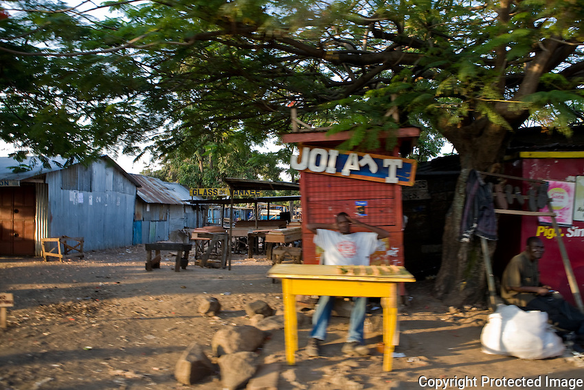 City scene. The market place in Homa Bay, Kenya.