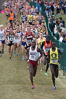 Oregon's Edward Cheserek (451) leads the pack during the NCAA Cross Country Championships in Terre Haute, Ind. on Saturday, Nov. 22, 2014. Cheserek won the race. (James Brosher, Special to the Denver Post)