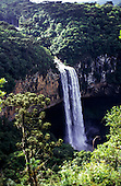 Rio Grande do Sul State, Brazil. Spectacular view of the Cascata do Caracol waterfall, canyon Serra Gaucha.