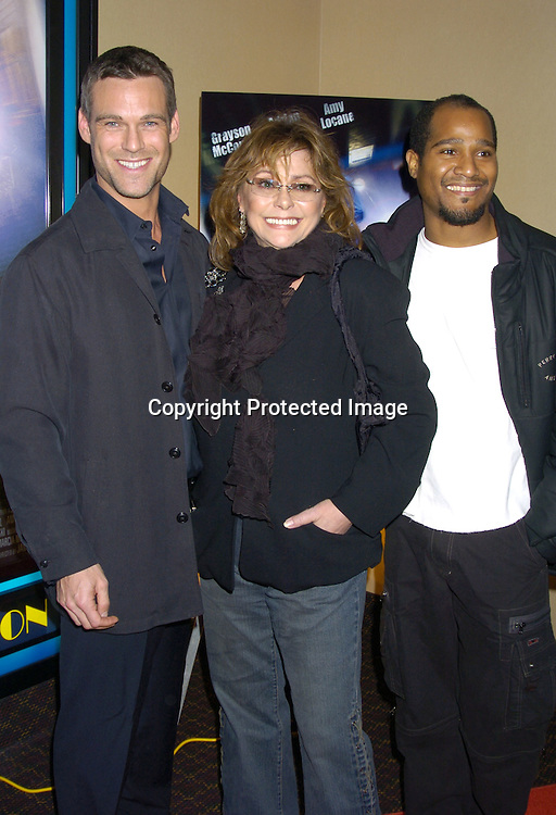 "Grayson McCouch, Elizabeth Ashley and Seth Gilliam from ""The Wire""..at a celebrity screening of ""G5"" a new movie starring..Grayson McCouch, Amy Locaine and Michelle Geisner on ..November 29, 2004 at the UA Battery Park City Stadium..Theatre. Photo by Robin Platzer, Twin Images"