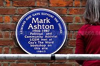 15.05.2017 - Memorial Plaque For Gay Rights Activist Mark Ashton
