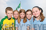 .FLAG FLAG Day: Pupils from Castledrum National School at a Green Flag ceremony at the school on Thursday last..L/r.Dylan Prendergast, Shauna Courtney, Kate Courtney, Aoife Corcoran and Emer Corcoran.   Copyright Kerry's Eye 2008