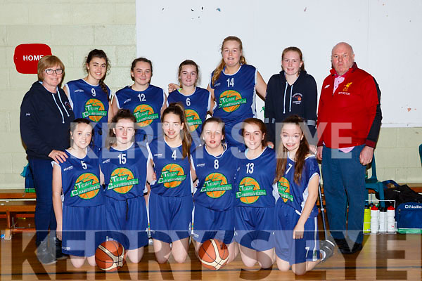 The Caherciveen team that played Bobcats in the u16 Girls final in Killarney Sunday night