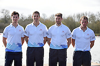 Caversham. Berkshire. UK<br /> G.BR M4X. left. Angus GROOM, Sam TOWNSEND, Graeme THOMAS and Peter LAMBERT<br /> 2016 GBRowing European Team Announcement,  <br /> <br /> Wednesday  06/04/2016 <br /> <br /> [Mandatory Credit; Peter SPURRIER/Intersport-images]
