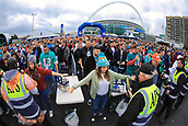 1st October 2017, Wembley Stadium, London, England; NFL International Series, Game Two; Miami Dolphins versus New Orleans Saints; Fans are searched entering the fan area