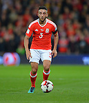 Neil Taylor of Wales during the FIFA World Cup Qualifying match at the Cardiff City Stadium, Cardiff. Picture date: November 12th, 2016. Pic Robin Parker/Sportimage