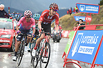 Wilco Kelderman (NED) Team Sunweb and Sergio Andres Higuita Garcia (COL) EF Education First approach the finish of Stage 9 of La Vuelta 2019 running 99.4km from Andorra la Vella to Cortals d'Encamp, Spain. 1st September 2019.<br /> Picture: Colin Flockton | Cyclefile<br /> <br /> All photos usage must carry mandatory copyright credit (© Cyclefile | Colin Flockton)