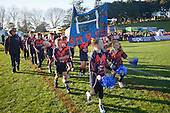 Bucklands Beach Junior Rugby Club take part in the march past before the ITM Cup Round 1 rugby game between Counties Manukau Steelers and Bay of Plenty, played at Bayer Growers Stadium Pukekohe, on Sunday July 17th 2011.