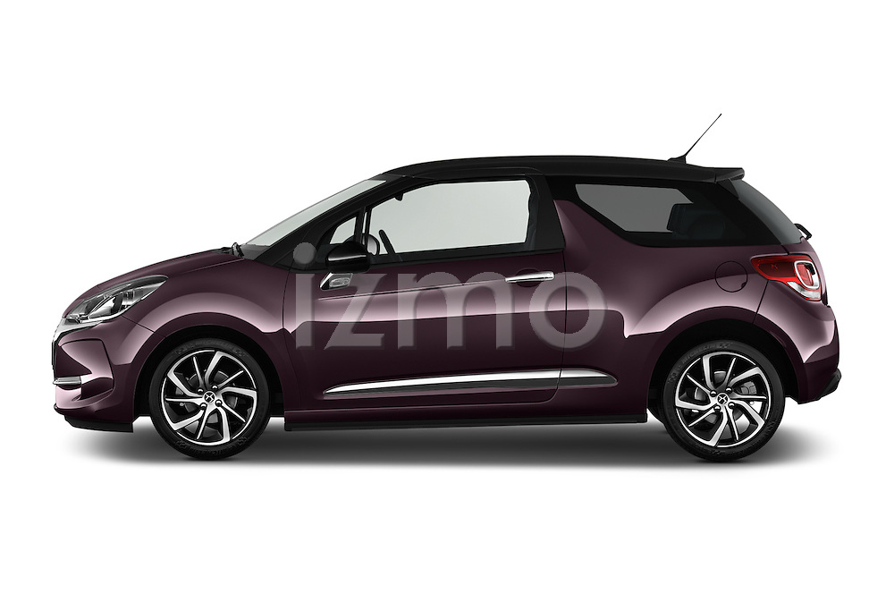 Car Driver side profile view of a 2016 Ds DS3 So-Chic 3 Door hatchback Side View