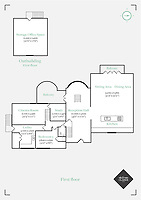 BNPS.co.uk (01202 558833)<br /> Pic: MrAndMrsClarke/BNPS<br /> <br /> Floor plan. <br /> <br /> A luxury house on an English country estate where the Allies plotted the infamous assassination of one of Adolf Hitler's top henchmen has gone on the market.<br /> <br /> Rooftops, a Norwegian-style chalet, is located on the Moreton Paddox estate in Warwickshire where 4,000 Czech soldiers were billeted during the Second World War.<br /> <br /> The plot to assasinate Nazi monster SS General Reinhard Heydrich involved two Czech soldiers who parachuted into Prague where they attacked and killed him as he was driven to work. <br /> <br /> His death led to appalling Nazi reprisals on locals, with more than 1,300 men, women and children massacred.<br /> <br /> The Edwardian mansion at Moreton Paddox that was requisitioned for the war effort was later demolished and Rooftops was built on the grounds in 2009.