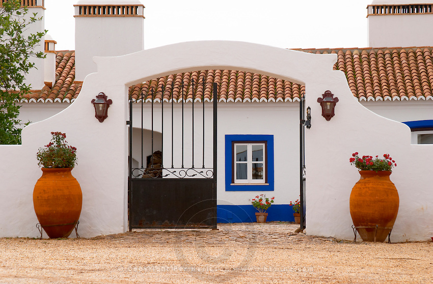 The old farm house in traditional Portuguese style. Herdade da Malhadinha Nova, Alentejo, Portugal