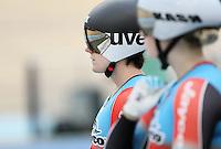 Australia's Anna Meares prior to her Women Keirin race at the 2014 Oceania Track Championships, Sit Zero Fees Velodrome, Invercargill, New Zealand, Friday, November 20, 2013. Photo: Dianne Manson / NINZ