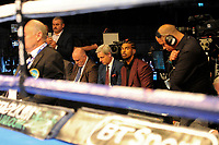 David Haye looks on as Anthony Yarde defeats Darius Sek during a Boxing Show at the The O2 Arena on 23rd June 2018