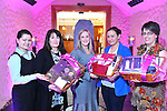 Dawn Fitzell, Spa Manager, 3rd from left, and Patricia deJong on left at The Cloisters Spa at The Muckross Park Hotel presents cosmetic hampers to Annette Cooper, Killarney, Brid Brosnan, Killarney and Derenea Murphy, Killorglin which they won at the recent open night in the spa..Picture by Don MacMonagle..FREE PR PHOTO MUCKROSS PARK HOTEL
