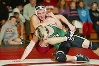 9 February 2005: Zack Hensley during wrestling at Burnham Pavilion in Stanford, CA.<br /> Photo credit mandatory: David Gonzales