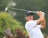 Gary Woodland (USA) on the 4th tee during Round 3 of the CIMB Classic in the Kuala Lumpur Golf & Country Club on Saturday 1st November 2014.<br /> Picture:  Thos Caffrey / www.golffile.ie