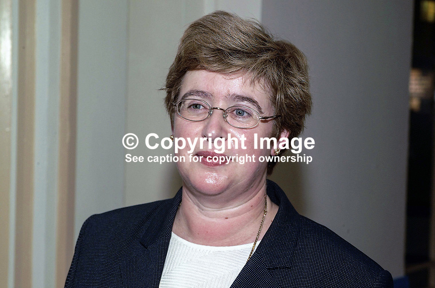 Daphne Trimble, wife of David Trimble, Ulster Unionist, Party Leader. Taken at Conservative Conference in Blackpool. Ref: 200110094238.<br />