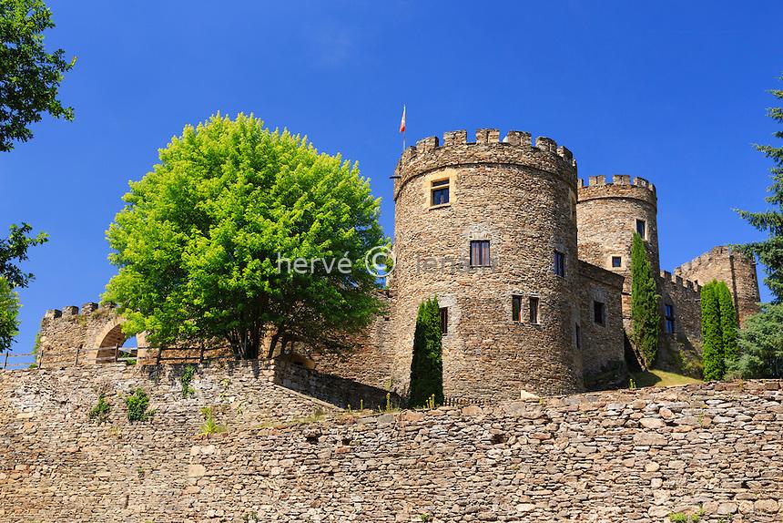 France, Allier (03), Chouvigny, le château de Chouvigny // France, Allier, Chouvigny, the castle