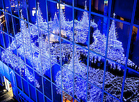 Spectacular & interesting view of Tokyo`s Shiodome complex`s Christmas illuminations..