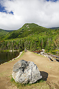 Mount Blue from Beaver Pond in Kinsman Notch of the White Mountains, New Hampshire during the summer months. This area was logged during the Gordon Pond Railroad era (1905 - 1916 +/-).