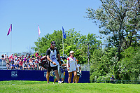 Moriya Jutanugarn (THA) departs the first tee during Sunday's final round of the 2017 KPMG Women's PGA Championship, at Olympia Fields Country Club, Olympia Fields, Illinois. 7/2/2017.<br /> Picture: Golffile | Ken Murray<br /> <br /> <br /> All photo usage must carry mandatory copyright credit (&copy; Golffile | Ken Murray)