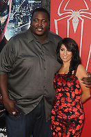 Quinton Aaron, Liana Mendoza at the premiere of Columbia Pictures' 'The Amazing Spider-Man' at the Regency Village Theatre on June 28, 2012 in Westwood, California. &copy; mpi35/MediaPunch Inc. /*NORTEPHOTO.COM*<br />
