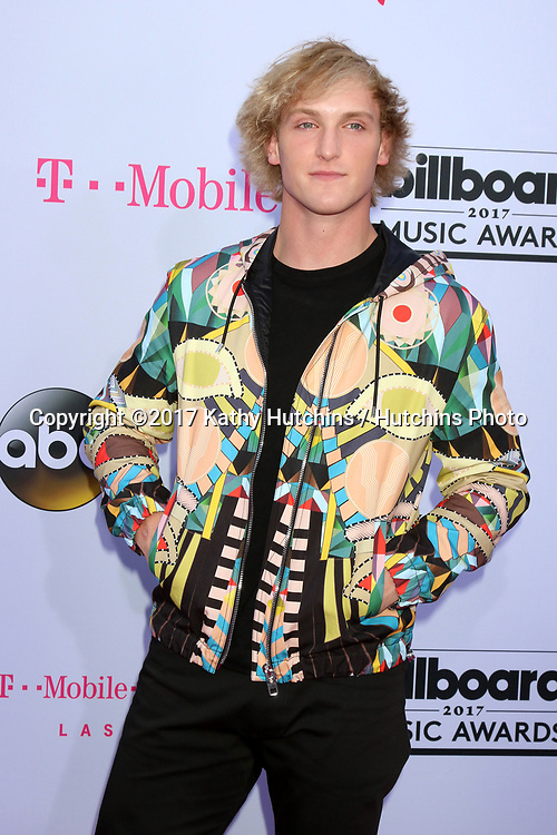 LAS VEGAS - MAY 21:   Logan Paul  at the 2017 Billboard Music Awards - Arrivals at the T-Mobile Arena on May 21, 2017 in Las Vegas, NV