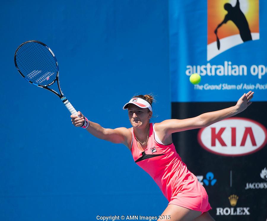 Irina-Camelia Begu (ROU)<br /> <br /> Tennis - Australian Open 2015 - Grand Slam -  Melbourne Park - Melbourne - Victoria - Australia  - 21 January 2015. <br /> &copy; AMN IMAGES