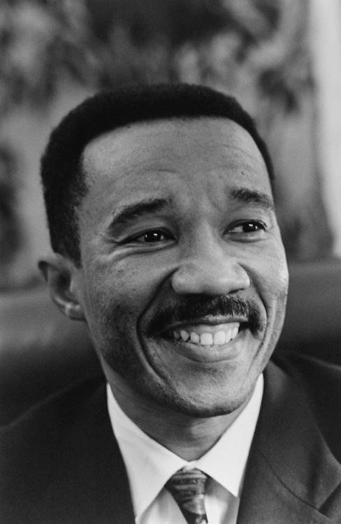 Rep. Kweisi Mfume, D-Md., in December 1992. (Photo by Maureen Keating/CQ Roll Call via Getty Images)