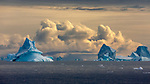 Eastern Greenland, icebergs in the Greenland Sea