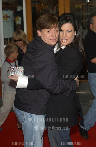 Actor MIKE MYERS & wife actress ROBIN RUZAN at the world premiere, in Hollywood, of his new movie Dr. Suess' The Cat in the Hat..November 8, 2003