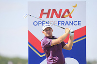 Tyrrell Hatton (ENG) on the 13th tee during Round 1 of the HNA Open De France at Le Golf National in Saint-Quentin-En-Yvelines, Paris, France on Thursday 28th June 2018.<br /> Picture:  Thos Caffrey | Golffile