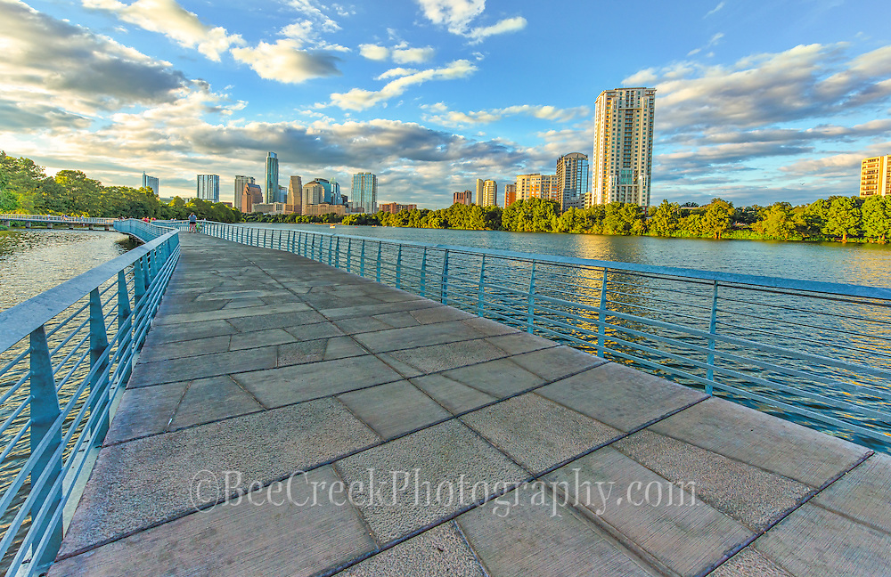 Wide view of Austin's Boardwalk over the lake. You can really feel that you are over the water.