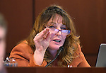 Nevada Assembly Minority Leader Marilyn Kirkpatrick, D-North Las Vegas, works in committee at the Legislative Building in Carson City, Nev., on Thursday, Feb. 12, 2015. <br /> Photo by Cathleen Allison